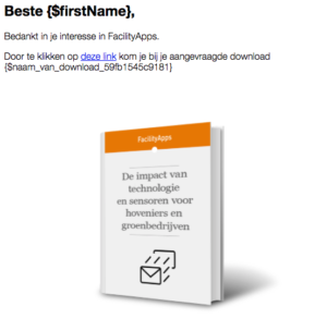 Dynamische content in e-mail