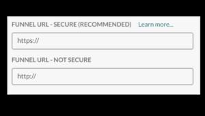 SSL landingpages