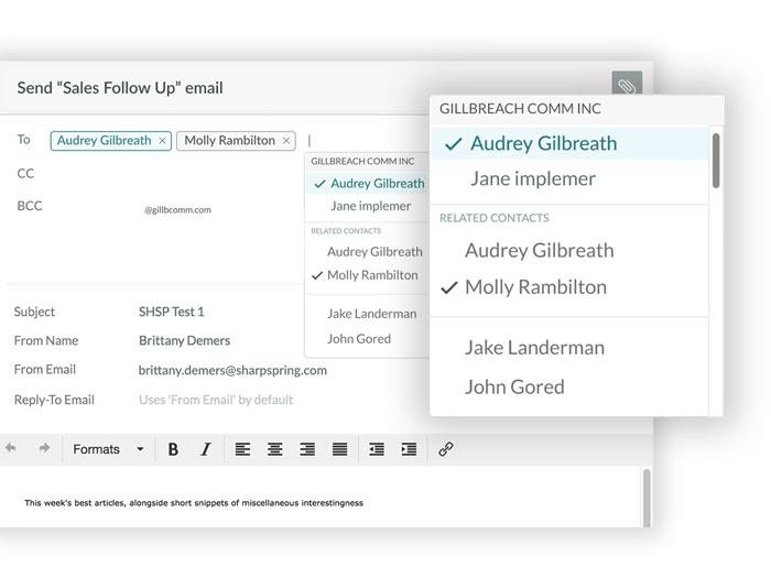 Verbeteringen binnen smart mail nieuwe features SharpSpring
